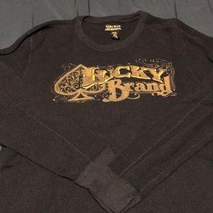 Lucky Brand long sleeve thermal shirt sz xl